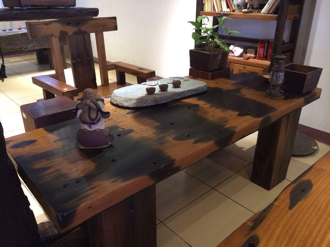 万达古典船木家具 船木茶桌供应商 船木茶桌价格