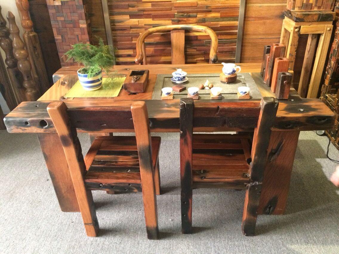 其他客厅家具价格_老船木家具 泡茶桌 石磨茶几 茶桌