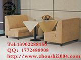 供应餐厅家具ZS-D104餐厅卡座沙发定做尺寸