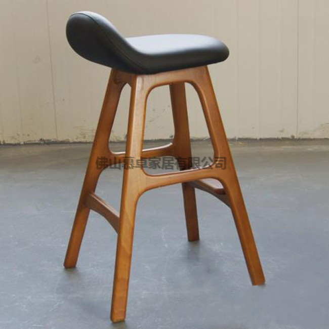 水曲柳实木吧椅简约北欧吧台椅吧凳吧台凳高脚凳前台椅酒吧桌椅高脚椅