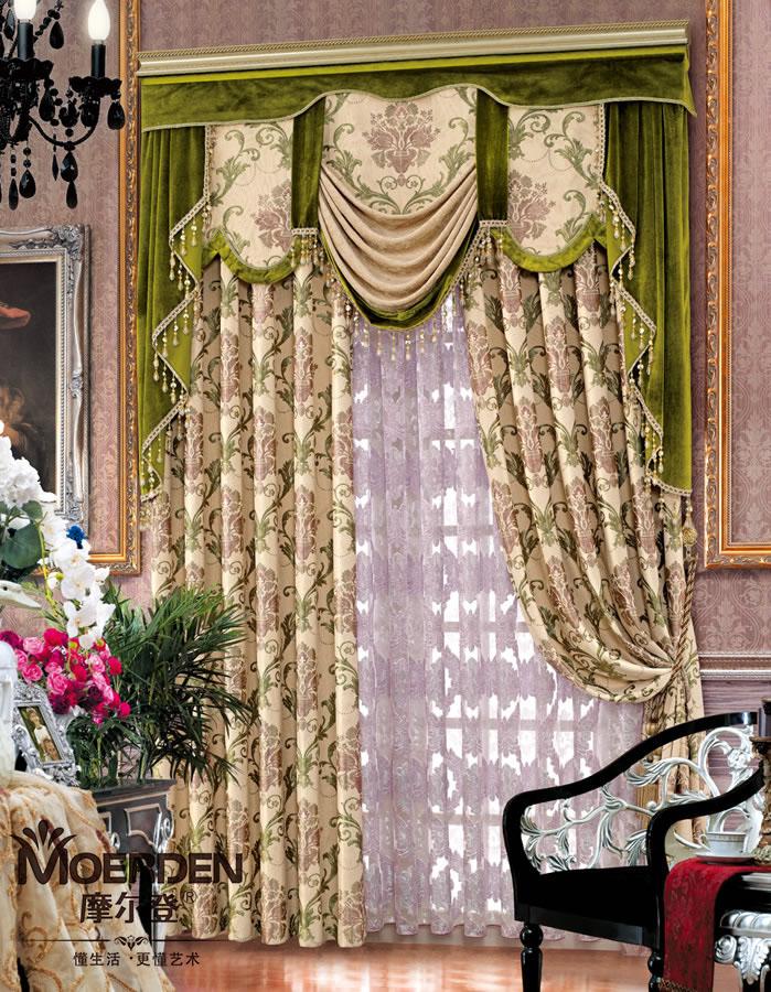 园网印花窗帘,色泽靓丽