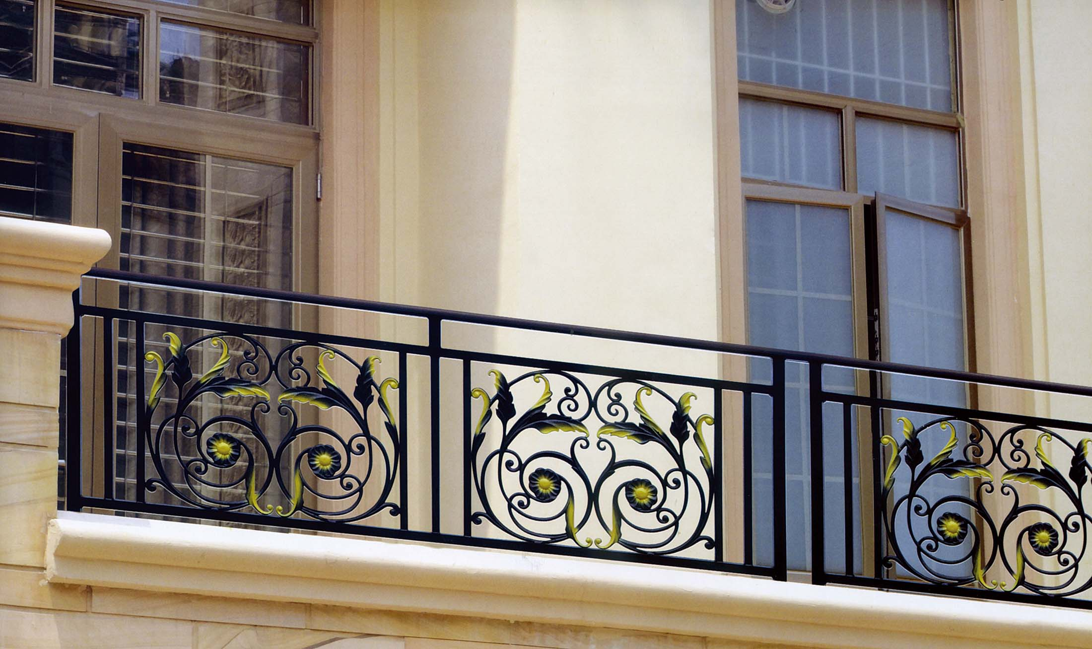 镀锌钢阳台护栏飘窗栏杆扶手装饰欧式室内田园窗户