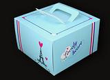 纸盒  蓝色铁塔 4寸蛋糕盒