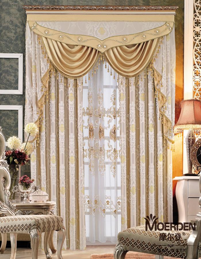 卧室窗帘 高档定做欧式窗帘布艺 遮光现代简约