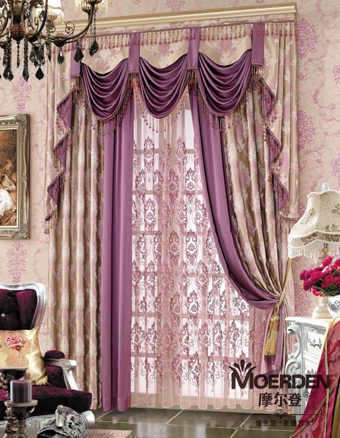 客厅窗帘奢华欧式 窗帘布艺品牌加盟 办公室/卧室窗帘