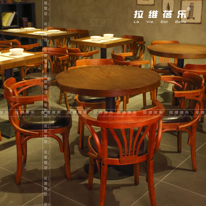 北欧风格桌椅(甜品店桌椅)烘焙店桌椅(实木桌椅)