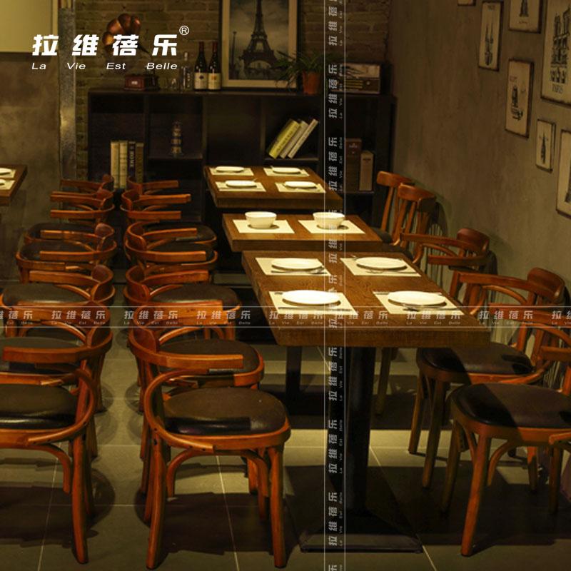 北欧风格桌椅(甜品店桌椅)烘焙店桌椅