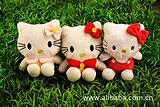 东莞加工定制凯蒂猫公仔 KITTY猫毛绒挂件 动漫电影主题玩具