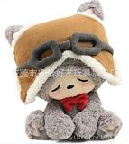 东莞加工定制幸运猫毛绒玩具 瞌睡猫毛绒公仔 坐姿猫娃娃
