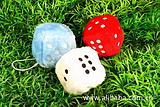 厂家定制色子毛绒挂件 企业形象促销赠品出口骰子 批发