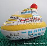 厂家定制毛绒轮船玩具 出口儿童玩具 家居办公摆件 批发