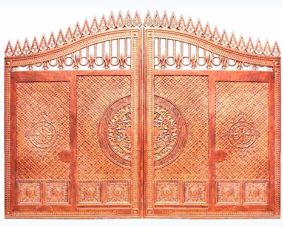 欧式实心铸铝庭院门