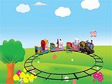 小火车金山机械制造轨道小火车游乐设备