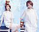 韩版女装 2015新款两件套欧根纱白色长衬衫连衣裙