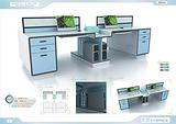 太空系列办公家具 屏风办公桌 办公屏风 高端职员卡位