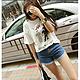 韩版女装 2015新款卡通松印花短袖T恤