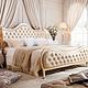 城市之窗洛贝舍 法式婚床奢华描金1.8米皮艺双人床 欧式奢华