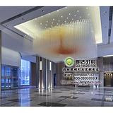 酒店梅花棒吊灯,梅花棒工程灯具,玻璃梅花棒吊灯,现代玻璃棒工程灯