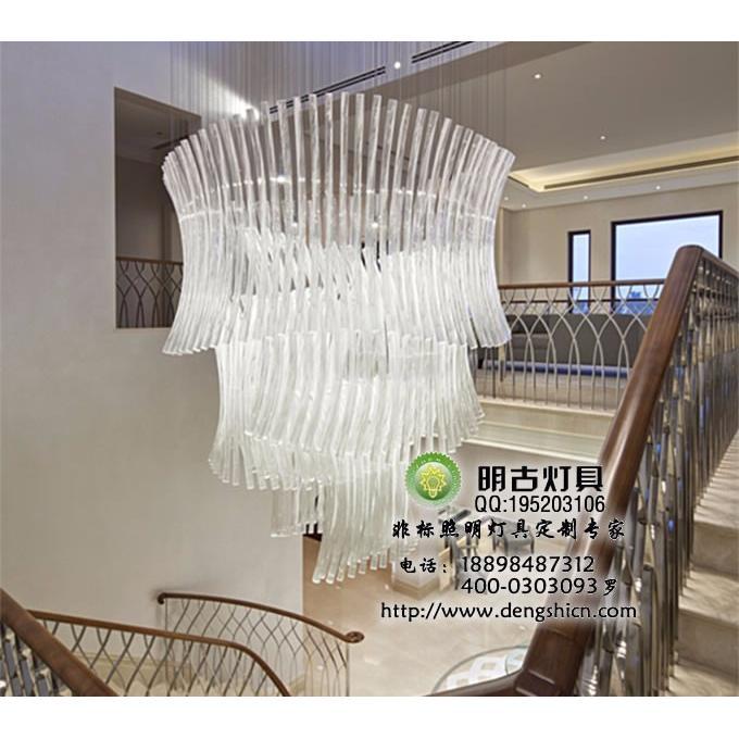 照明加工价格_楼梯间玻璃吊灯,现代楼梯吊灯,会所工艺