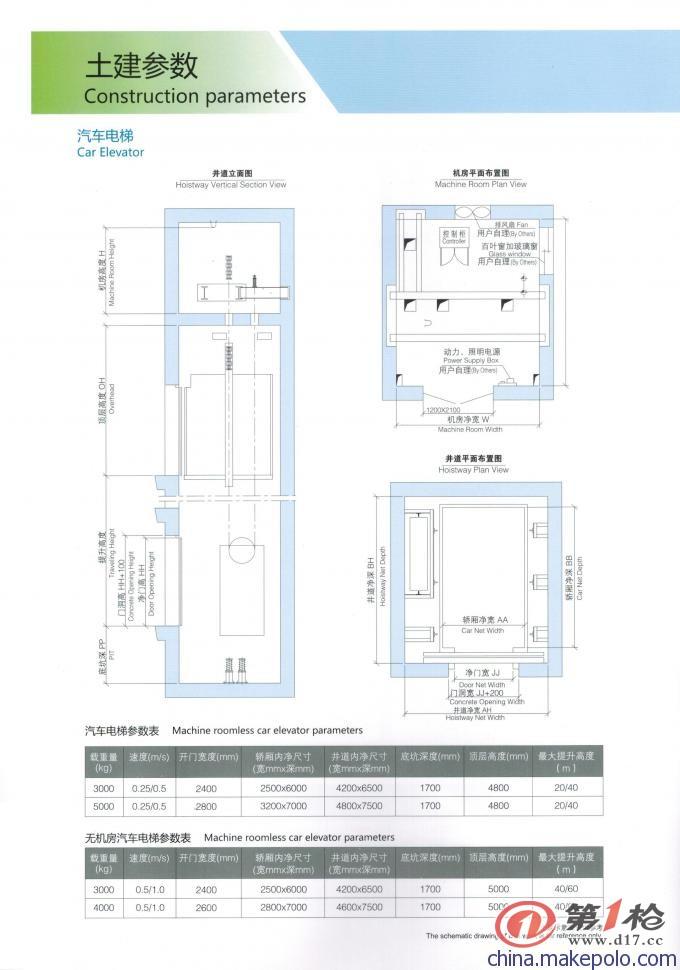 供应汽车电梯/无机房汽车电梯/有机房汽车电梯—全