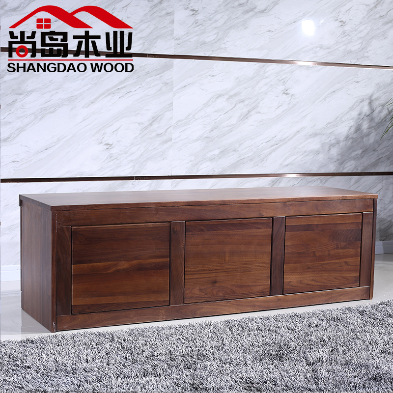 黑胡桃家具胡桃木电视柜客厅实木家具