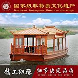 楚风木船出售山东木船潍坊木船定制电动画舫木船