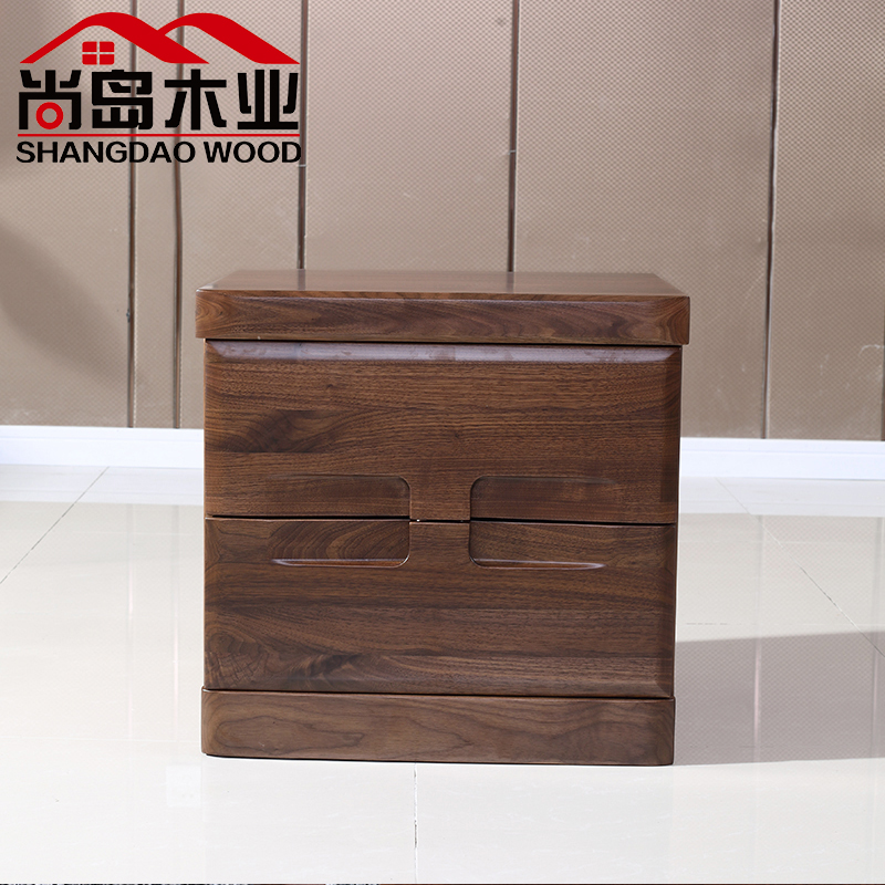 黑胡桃家具北美胡桃木床头柜工厂团购