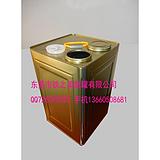 15L6CM小口径液体铁桶,15升工业铁桶,正方形化工铁罐