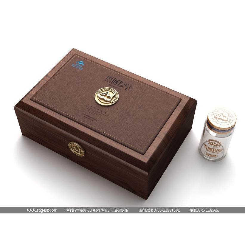 虫草包装设计/虫草木盒包装设计/虫草礼盒包装设计