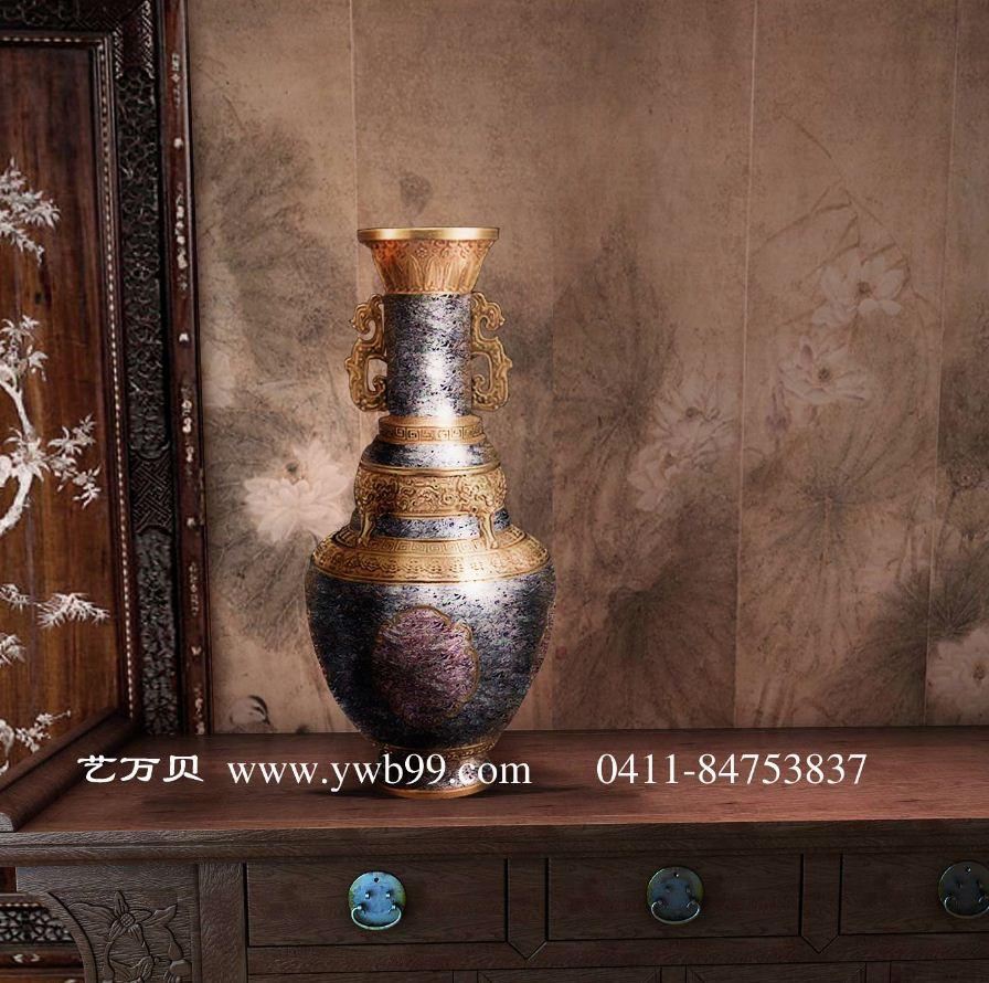 欧式陶瓷花瓶|现代简约大型大号景泰蓝陶瓷花瓶图片