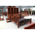 万达船木家具厂长期生产销售老船木家具茶桌 双人床