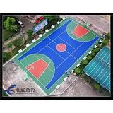 江门篮球场材料价格 水性丙烯酸篮球场施工