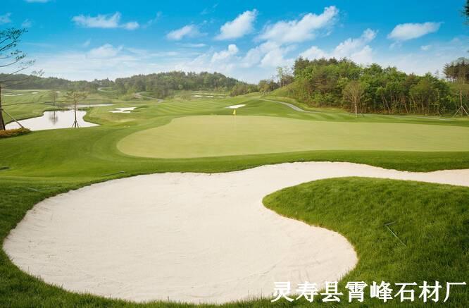 供应高尔夫球场专用高档白沙子 人工沙滩专用白沙子 白沙子厂家
