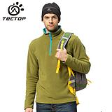 韩版时尚拼色摇粒绒 加厚保暖户外服装 男套头抓绒衣 JW5139