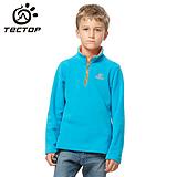 时尚拼色套头 正品保暖摇粒绒 户外运动 儿童抓绒衣 JW5141