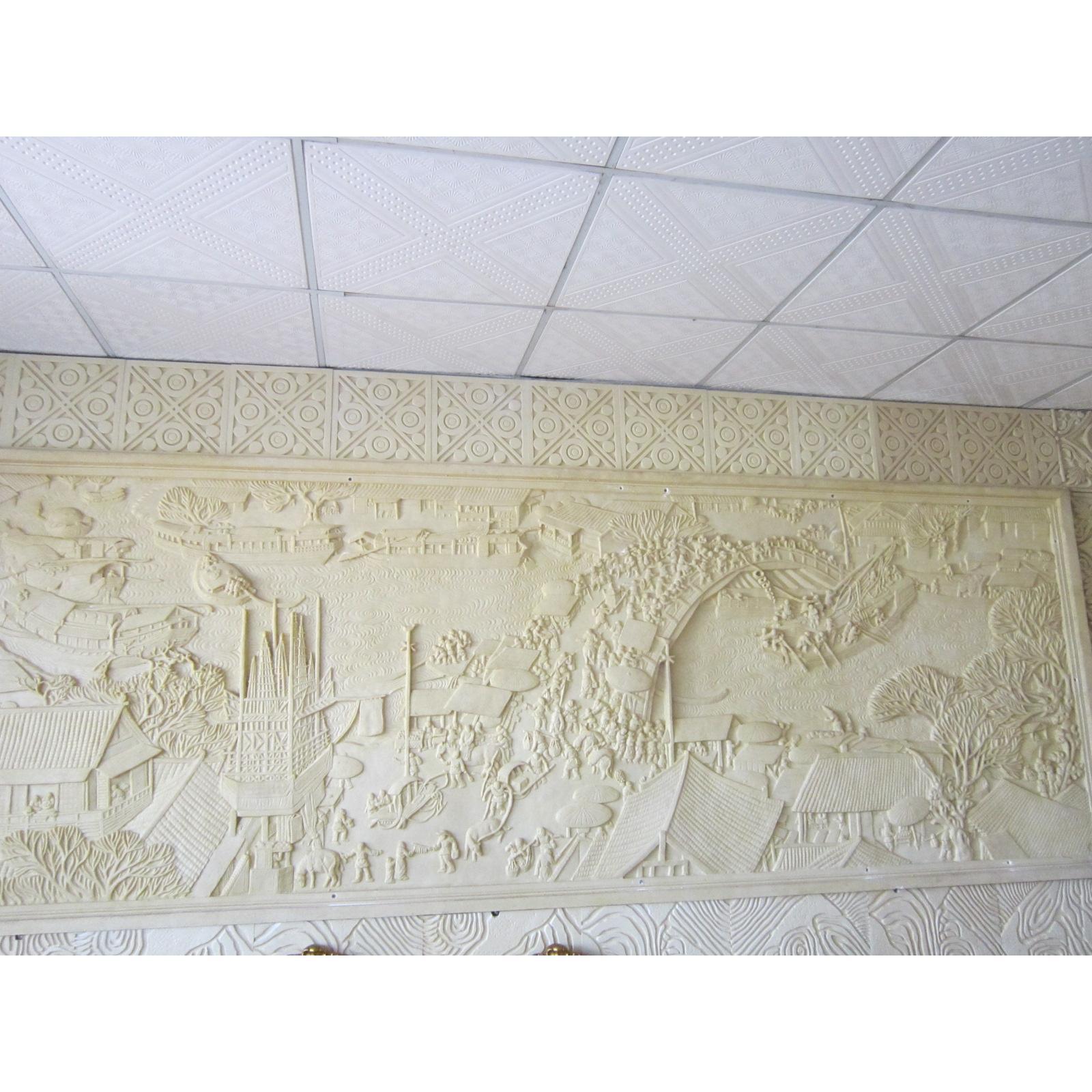 东莞高级会所背景墙人造沙岩浮雕