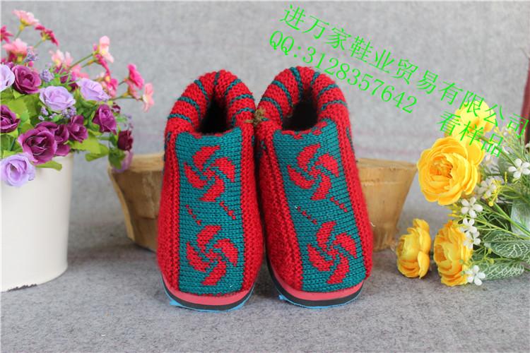 双色雕花男童鞋棉鞋批发网加厚毛线棉鞋批发