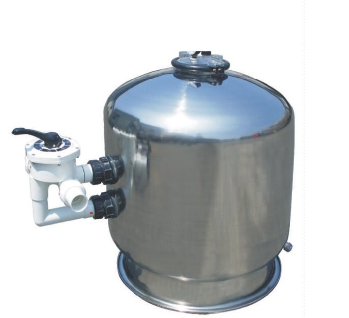 侧式不锈钢过滤沙缸 泳池过滤设备 石英砂过滤器