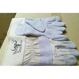 焊兽短二层牛皮电焊焊工用耐磨防滑加厚耐高温劳保皮手套