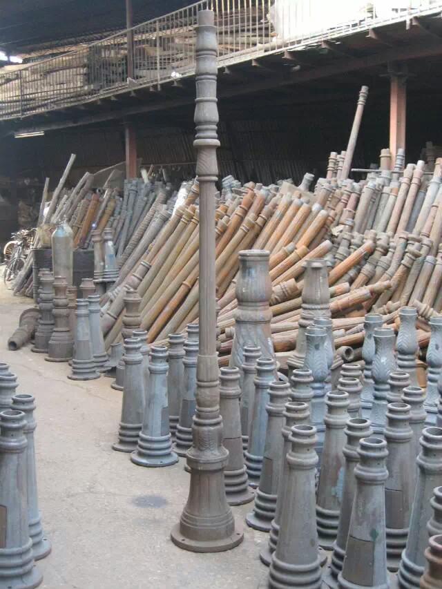 批发沙铸铝铸铁压铸铝毛坯灯杆灯座花枝欧式庭院灯