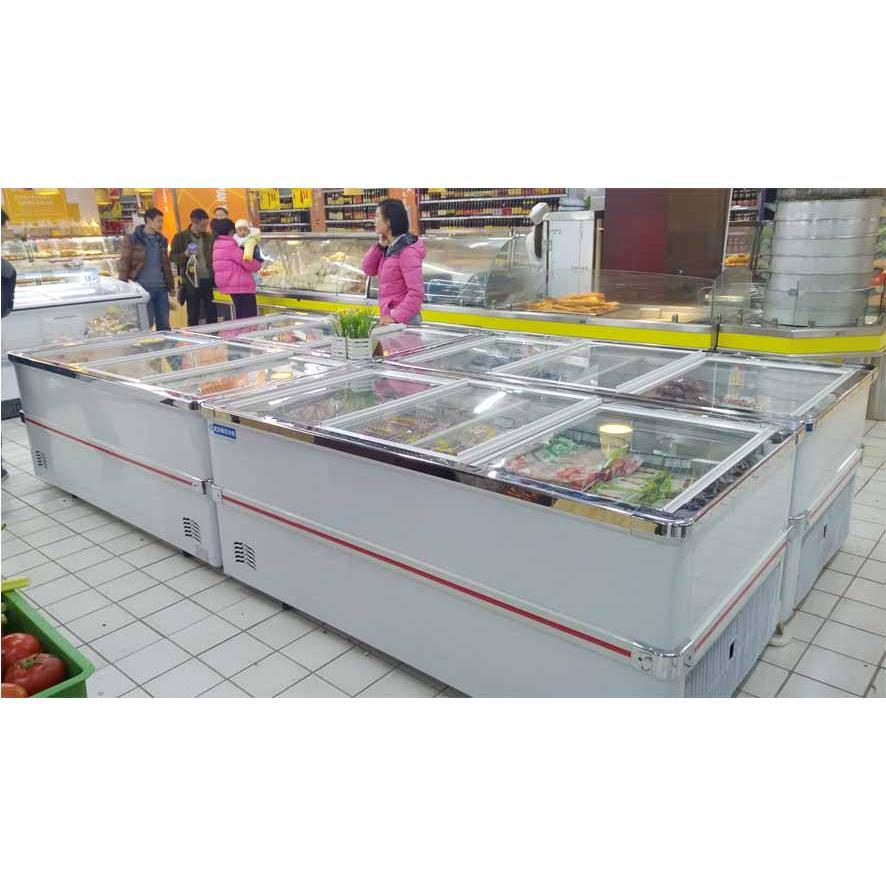 武汉梅花冷柜 超市平口风岛柜批发价格_武汉市