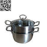 玻盖韩式双层蒸锅 不锈钢锅