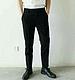 厂家直销2015夏季新款修身低腰欧美街拍男士九分小脚裤
