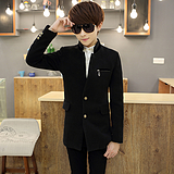 厂家直销 男式大衣修身 春秋寒衣型男外套 单排扣立领韩版男装