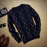 【热销】英伦套头男士毛衣 高品质丝光棉针织衫线衣 厂家直销