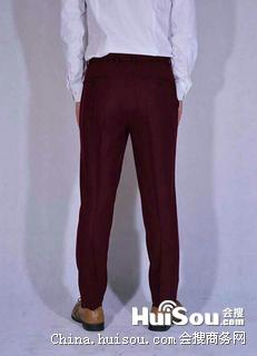 原创设计英伦复古修身薄款男式合体小脚西裤