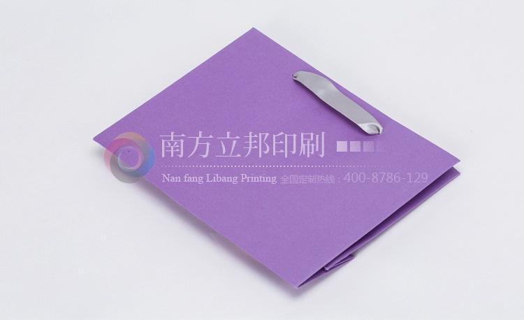 立邦 优质厂家专业批发 秋季 爆款淡紫色彩卡手提袋 纸袋