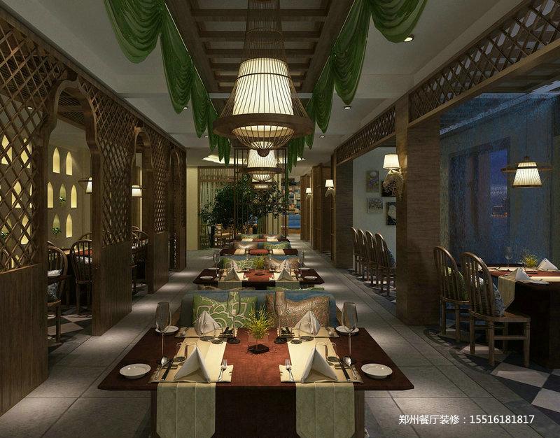 疁城新天地椰园泰国菜餐厅装修设计图片.费用.工期