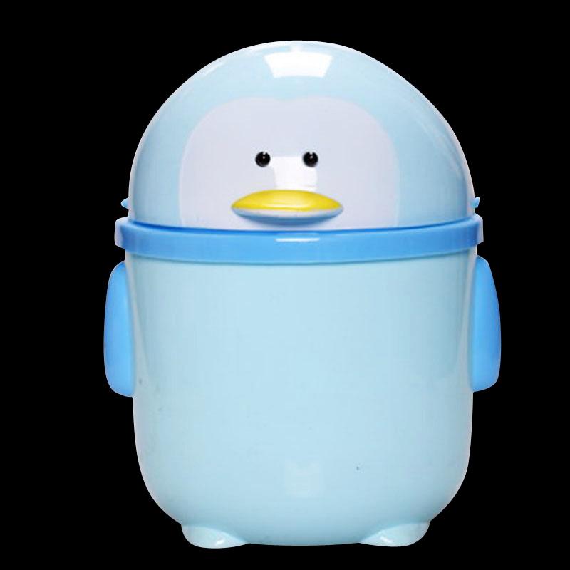 可爱超萌卡通企鹅造型塑料垃圾桶杂物桶