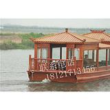 哪里有电动画舫木船卖山东木船定制青岛木船餐饮旅游木船